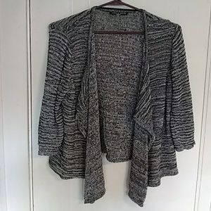 Black and white drapey cardigan